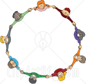 77665-Royalty-Free-RF-Clipart-Illustration-Of-A-Circle-Of-Diverse-Happy-Cartoon-Children-Holding-Hands-And-Looking-Up