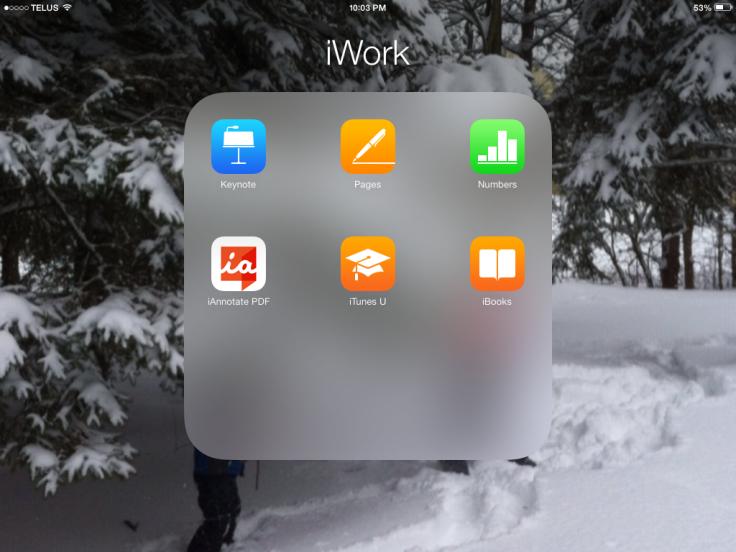 iWork App List
